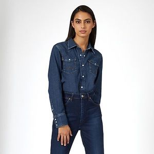 Wrangler Denim Western Jean Shirt